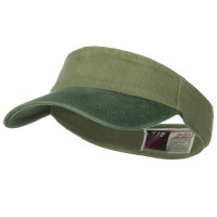 Visor - Two Tone Washed Cotton Flex Visor