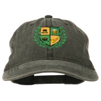 Embroidered Cap - Irish Crest Embroidered Washed Cap