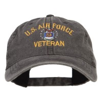 Embroidered Cap - US Air Force Veteran Washed Cap | Free Shipping | e4Hats.com