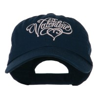 Embroidered Cap - Valentine Heart Embroidered Cap