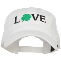 Embroidered Cap - Love with Shamrock Embroidery Cap
