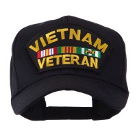 Embroidered Cap - Veteran Military Large Patch Cap