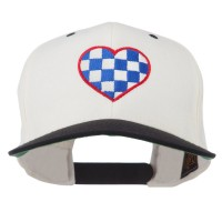 Embroidered Cap - Check Heart Embroidered Cap
