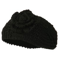 Band - Women's Knit Flower Head Band