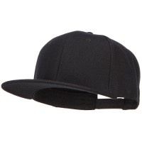 Ball Cap - Wool Blend Flat Bill Snapback Cap