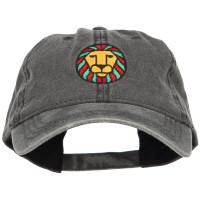 Embroidered Cap - Rasta Lion Embroidered Cap