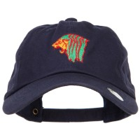 Embroidered Cap - Rasta Lion Head Embroidered Cap