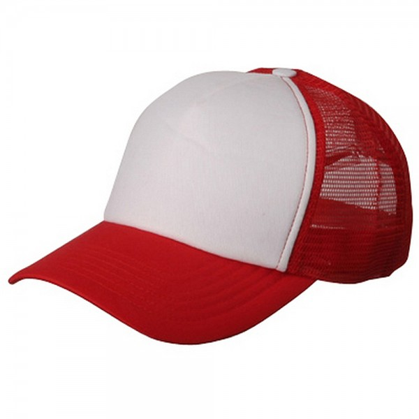 Ball Cap - Red White Summer Trucker Cap  8d873a41aff