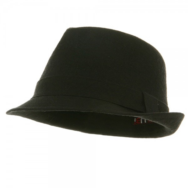 Fedora - Black Big New Linen Fedora Hat    e4Hats 39378d7ad09