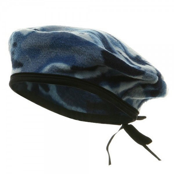 bcc73fe855db9 Beret - Blue Camo Fleece Beret