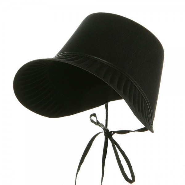 Costume - Black Thanksgiving Pilgrim Bonnet  45b46a2d51c