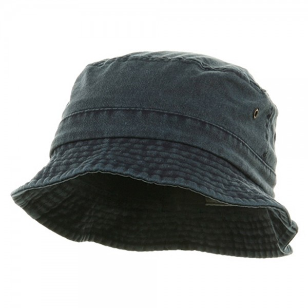 564475df459 Bucket - Navy Pigment Dyed Twill Bucket Hats    e4Hats