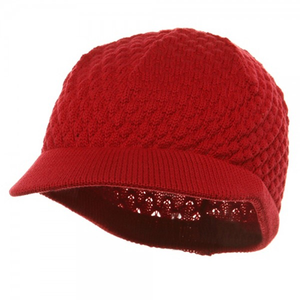 81e186bf4b9033 Beanie Visored - Red Rasta Plain Hat (ny 12) | Coupon Free | e4Hats.com