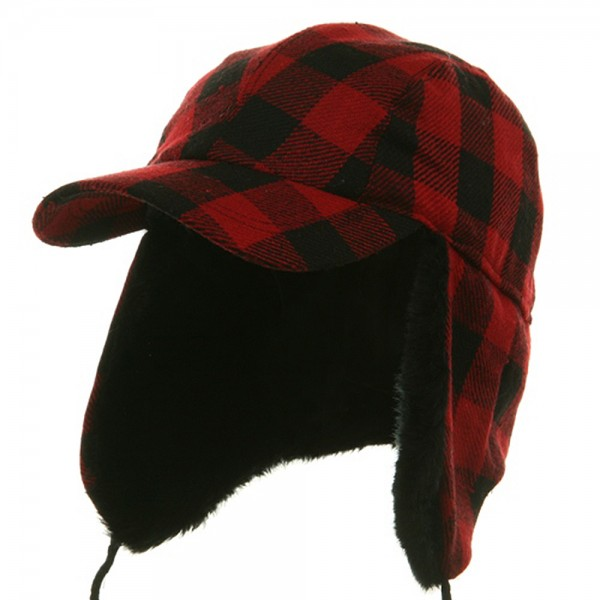 d29552b918 Trooper - Red Traditional Plaid Work Cap