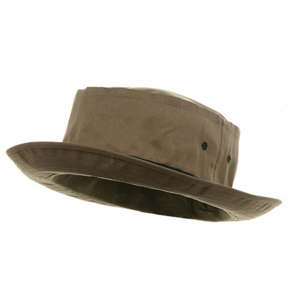 Bucket - Khaki Green Sky Big Size Roll Up Bucket Hat  8fa0237e272a