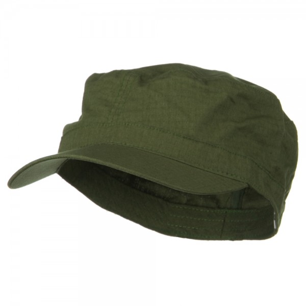 Big Size Fitted Cotton Ripstop Military Army Cap - Olive 4e910ed18646