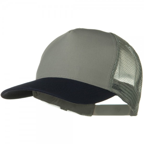 5ac18d3f1 Two Tone Cotton Twill 5 panel Mesh Back Cap - Navy Grey