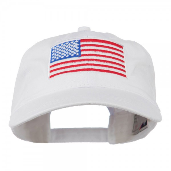 22.99 American Flag Embroidered Washed Cap - Olive Green 32b3aec1747