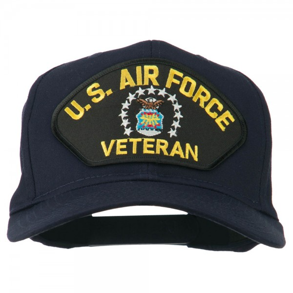 b1a9e13dc1190a Embroidered Cap - Navy US Air Force Veteran Patch Cap | Coupon Free ...