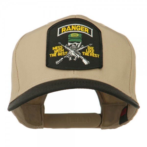20efd66c0d0  19.49 US Army Ranger Military Patched Two Tone High Cap - Khaki Black   19.49