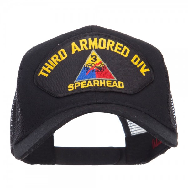 24a4961990c Embroidered Cap - Black US Army Division Patched Cap    e4Hats