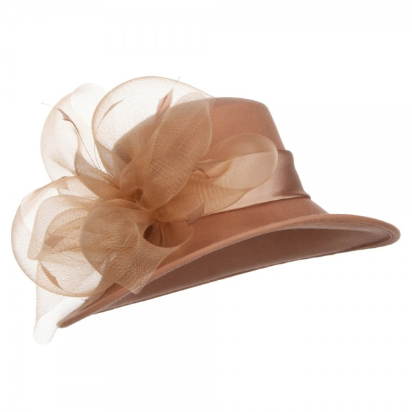 d4b6cc62 Dressy - Cream Mesh Bow Accent Wool Dressy Hat | Coupon Free ...