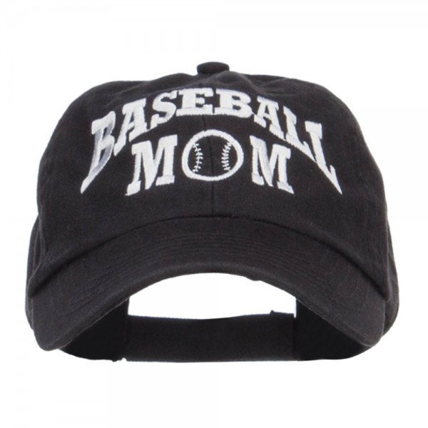 745df8d00 Baseball Mom Embroidered Low Profile Cap - Black