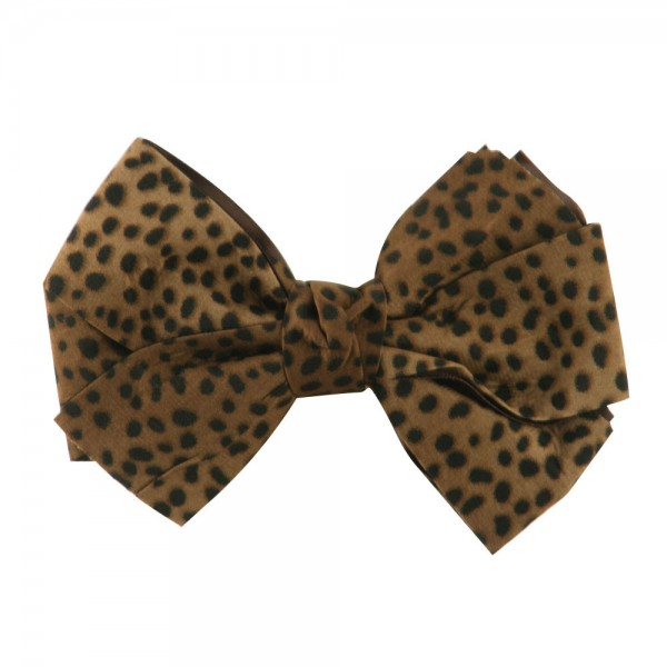 Pin , Badge - Taupe Animal Print Bow Tie Pin Clip // e4Hats