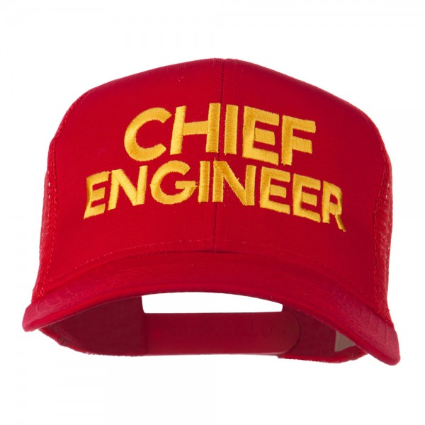 20d010e0897 Chief Engineer Embroidered Twill Mesh Cap - Red