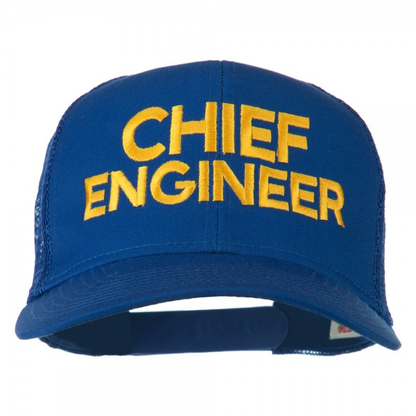 19.49 Chief Engineer Embroidered Twill Mesh Cap - Royal  19.49 ... 8a42669fc45