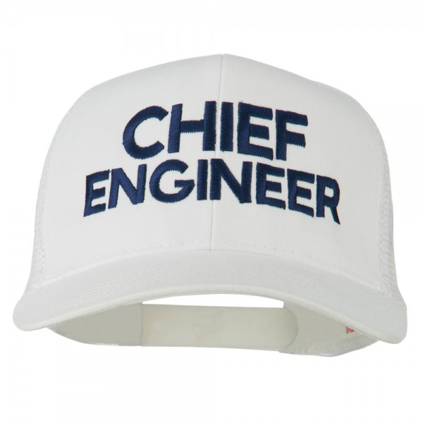19f3633c5e5 Chief Engineer Embroidered Twill Mesh Cap - White