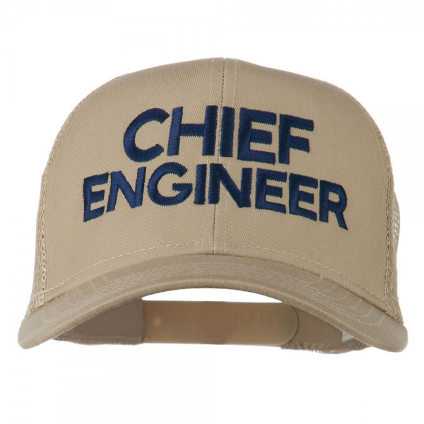 ad39119acee Chief Engineer Embroidered Twill Mesh Cap - Khaki