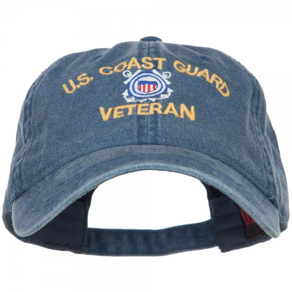 8d063fd1c0c3f4 Embroidered Cap - Navy Coast Guard Veteran Washed Cap | Coupon Free ...
