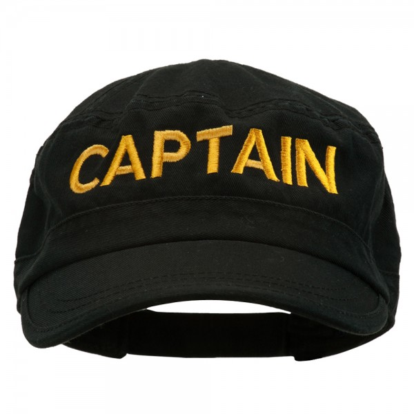 ace4e38282b Embroidered Cap - Black Captain Embroidered Enzyme Cap