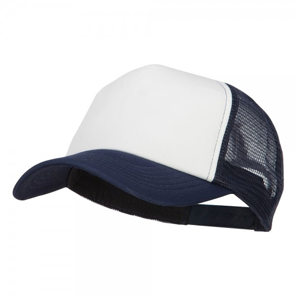 12.49 Cotton Trucker Cap - Navy White  12.49 382584e7983