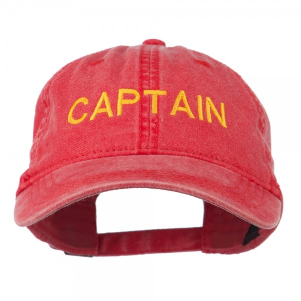 c0690c139bc Embroidered Cap - Red Captain Embroidered Washed Cap