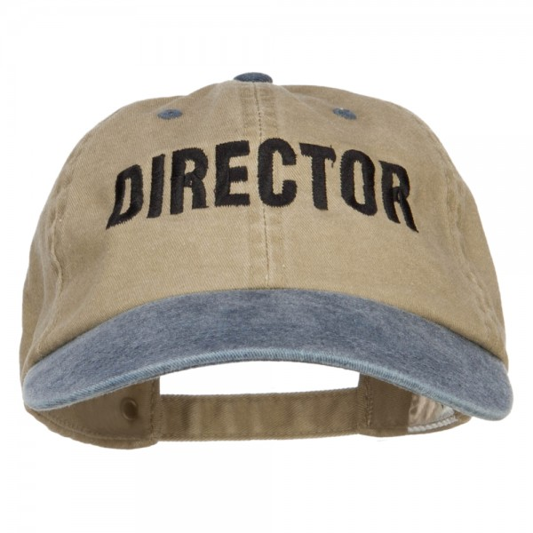 fa1445595d3  19.99 Movie Director Embroidered Washed Two Tone Cap - Khaki Navy  19.99  ...