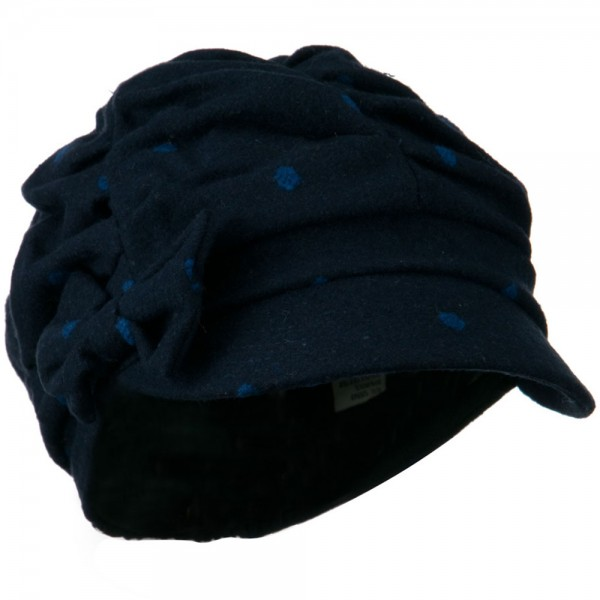 bea93dff Newsboy - Navy Blue Dagny Polka Dot Newsboy Hat | Coupon Free ...