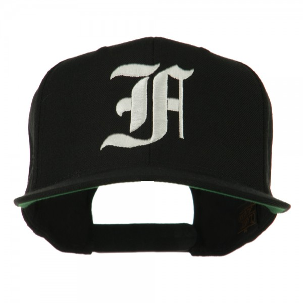 9aff4ea5 Embroidered Cap - Black Old English F Flat Bill Cap | Coupon Free ...