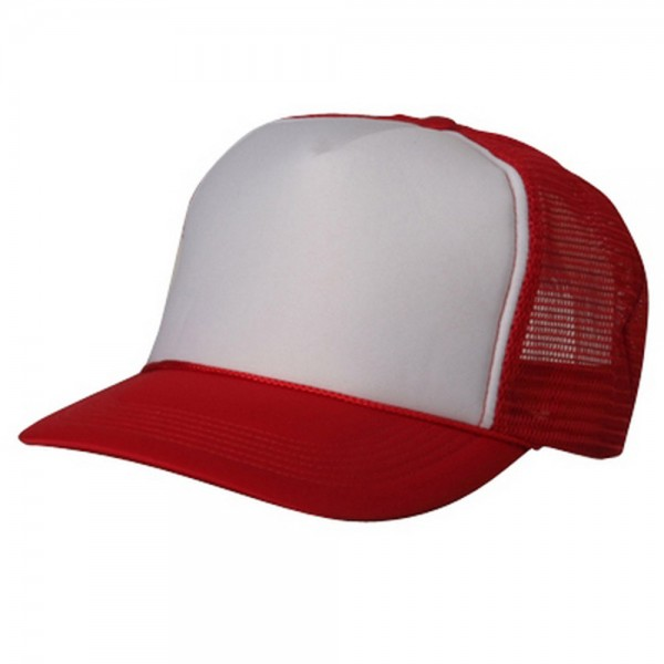 Ball Cap - Red White Summer Foam Mesh Trucker Cap  c9fc5df80ca