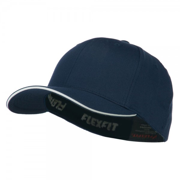 b0054697775962 $32.99 Flexfit Wooly Combed with Sandwich Cap - Navy White $32.99 ...