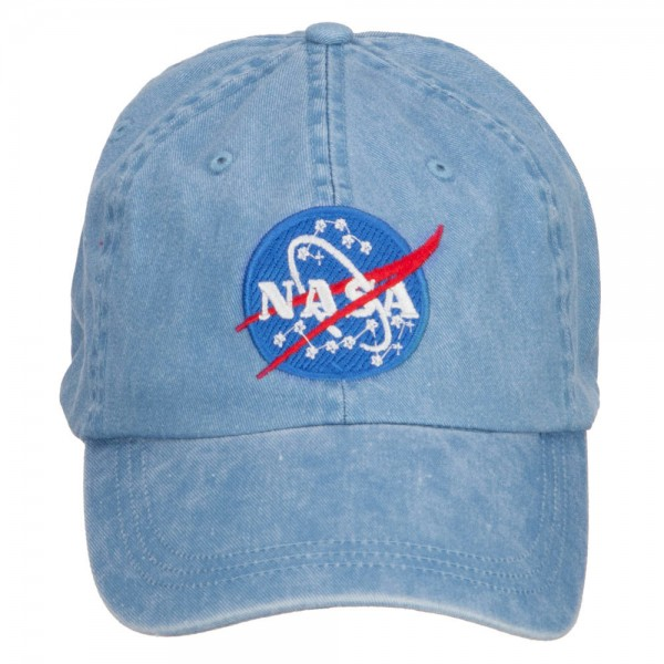 Embroidered Cap - Beige NASA Insignia Washed Cap  9327db62d6b2