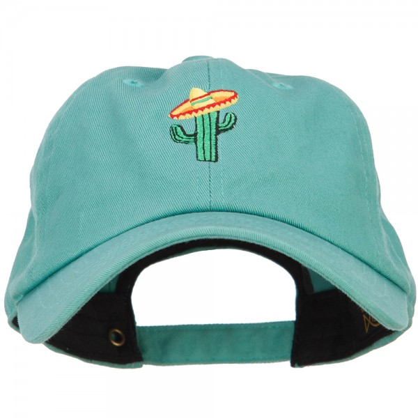 Embroidered Cap - Mint Cactus with Sombrero Embroidery Cap  0c112a27db11