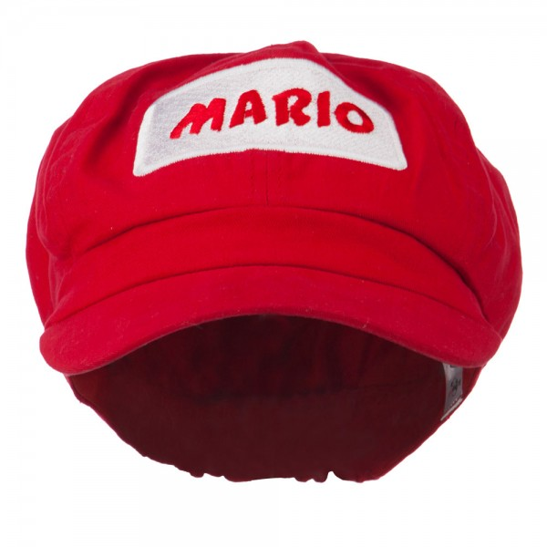 Big Size Rectangle Mario and Luigi Embroidered Cotton Newsboy Cap - Red   21.99 ... 3170f890a9b5