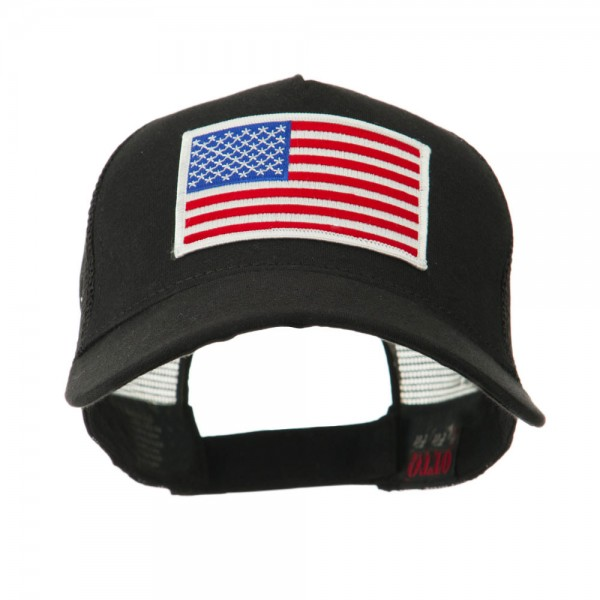 Embroidered Cap - USA Flag 5 Panel Mesh Flag Gold Patch Cap  a6c236a1ced