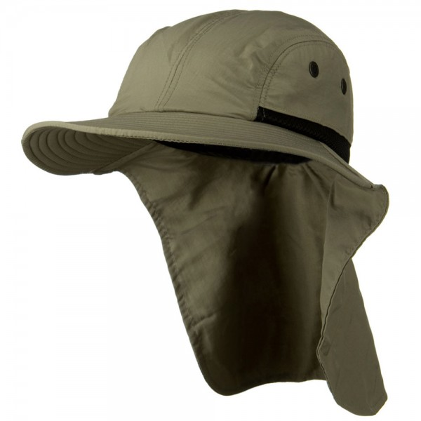 Mesh Sun Protection Flap Hat - Olive 429f27909c5
