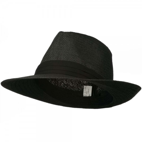 d287f4d858f8d Men s Large Brim Fedora Hat - Black  28.99 ...