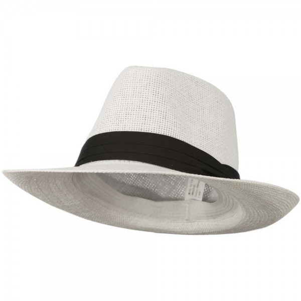 28.99 Men s Large Brim Fedora Hat - White  28.99 0753f7db3cc