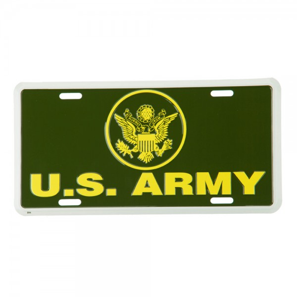 Plate, Frame - Army US Military 3D License Plates // e4Hats