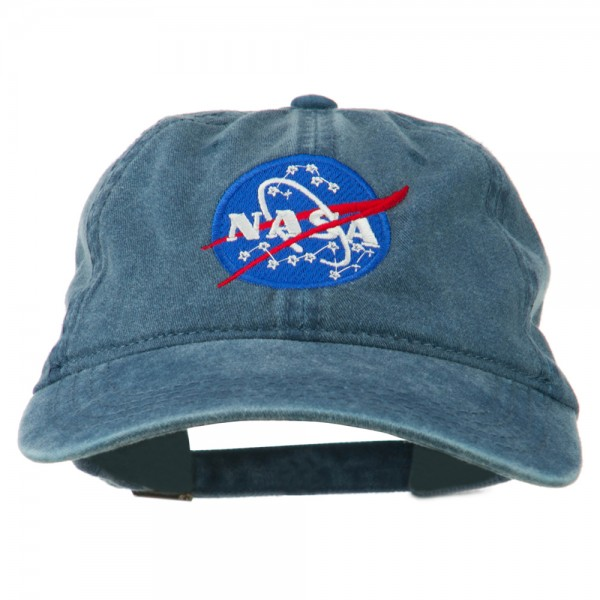 57f1d414040a40 Embroidered Cap - Navy NASA Insignia Embroidered Dyed Cap | Coupon ...